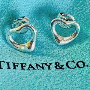 Tiffany & Co. Silver Open Heart Earrings